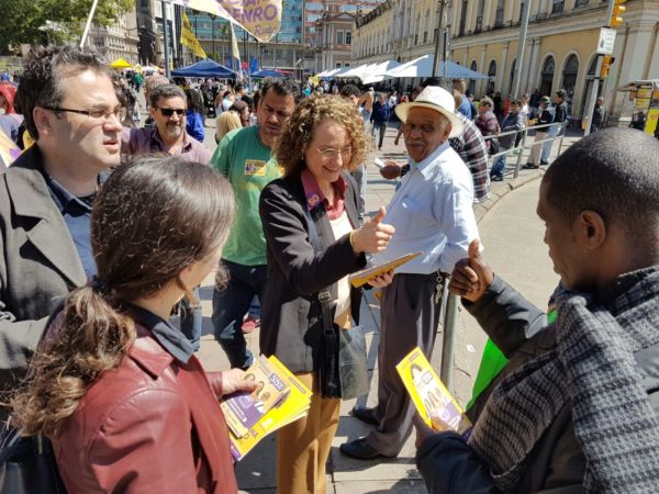 Eleitores manifestaram apoio e esperança | Foto: Alvaro Andrade/PSOL