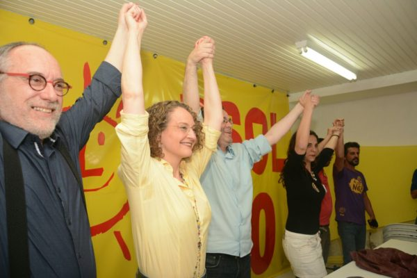 Aumento da bancada foi comemorado por líderes do PSOL | Foto: Fernanda Piccolo/PSOL