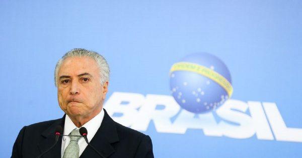 PSOL entra com pedido no STF para que Temer seja investigado