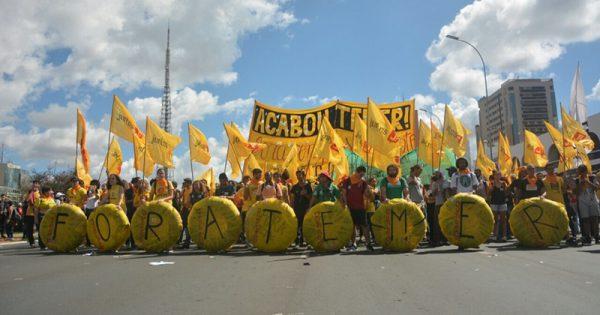 Ato contra Temer é duramente reprimido em Brasília