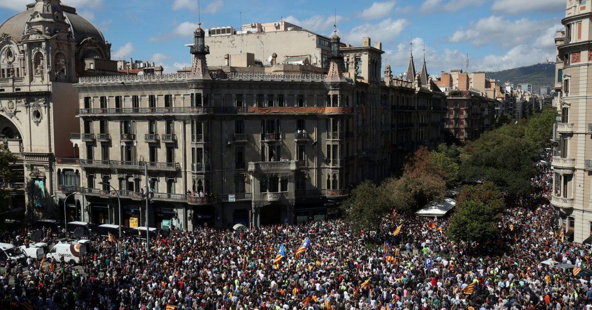 Mobilização na Catalunha