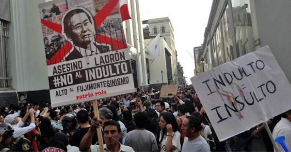 Indulto é insulto: todo apoio à luta do povo peruano contra o fujimorismo