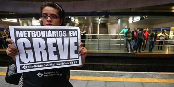 """Greve de metrovi·rios em S""""o Paulo"""