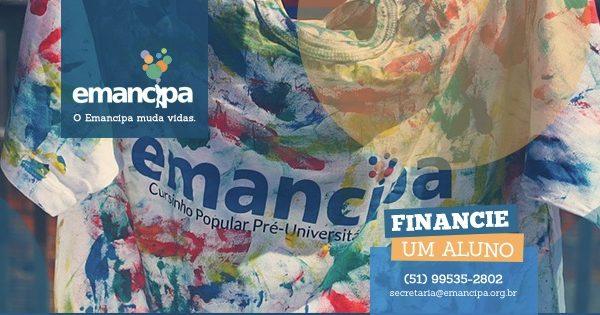Ajude a mudar vidas! Financie um aluno do Emancipa!