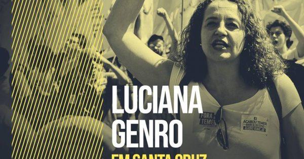 Luciana Genro fala sobre reorganização da esquerda em Santa Cruz do Sul