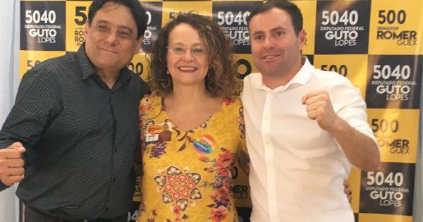 Luciana Genro participa do lançamento das candidaturas de Guto Lopes e de Romer Guex em Viamão