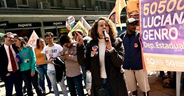 PSOL e PCB ocupam Esquina Democrática defendendo a mudança