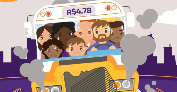 Passagem cara, ônibus ruim e sem ar-condicionado!