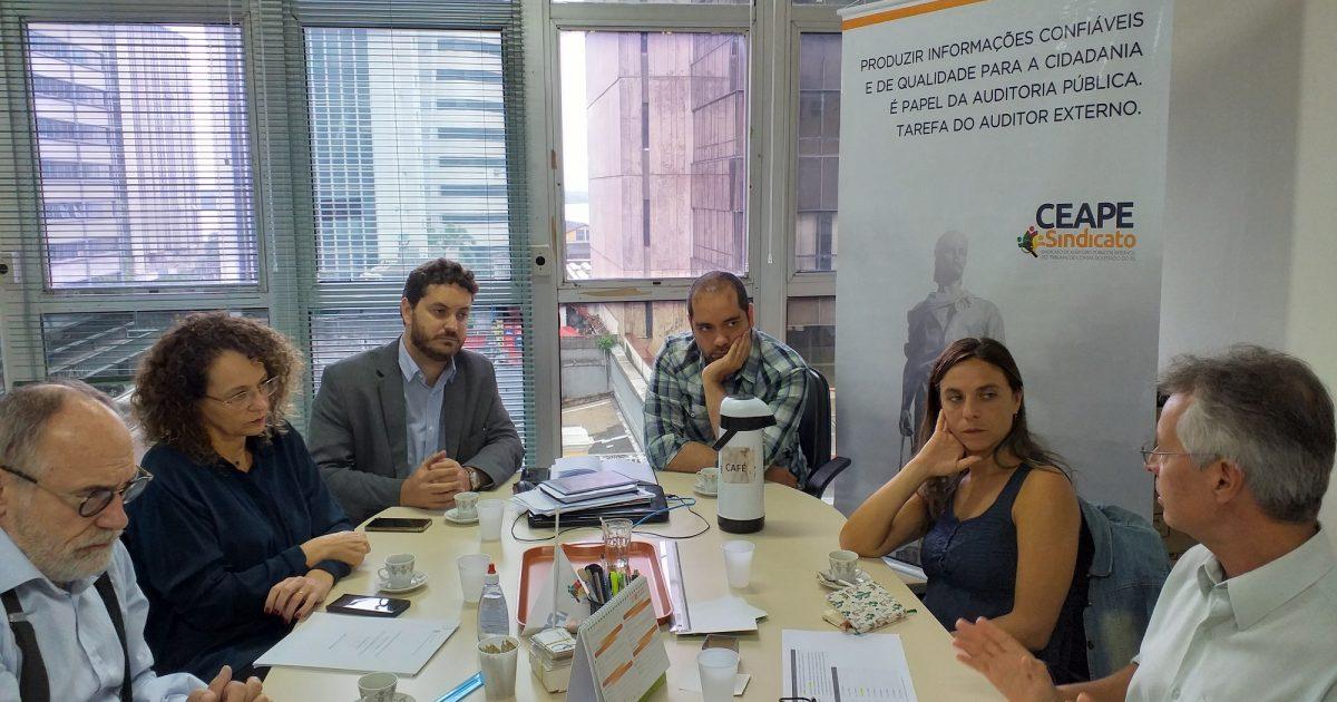 Reunião de Luciana Genro e Fernanda Melchionna com Josué Martins do Ceape