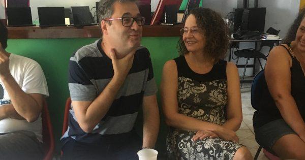Luciana Genro participa de reunião de professores do Emancipa Santa Rosa
