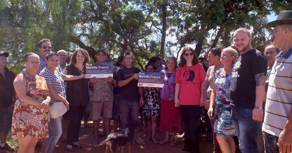 Ocupação em Sapucaia do Sul homenageia Marielle Franco