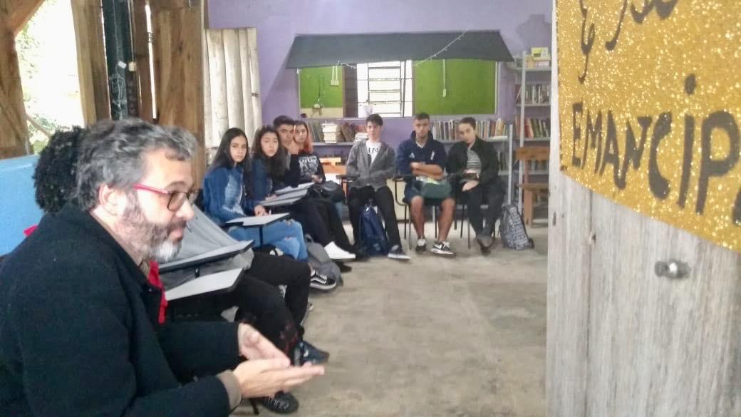 O vereador Roberto Robaina é o idealizar do espaço na Ilha da Pintada, em Porto Alegre   Foto: Bruna Porciúncula