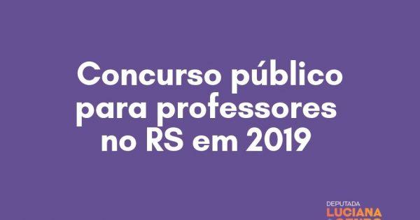 Deputados protocolam emenda exigindo concurso público para professores em 2019