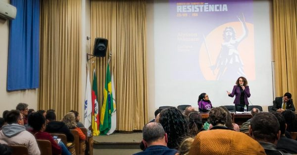 Luciana Genro e Alysson Mascaro lançam livros na UFRGS e reforçam luta por outro modelo político e econômico