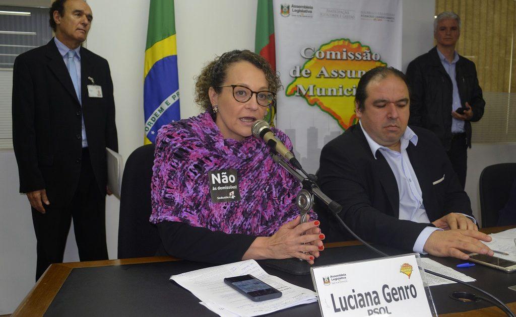 Deputada Luciana Genro também defendeu os 1,8 mil trabalhadores do Imesf na Comissão de Assuntos Municipais | Foto: Foto: Luiz Morem | Agência ALRS