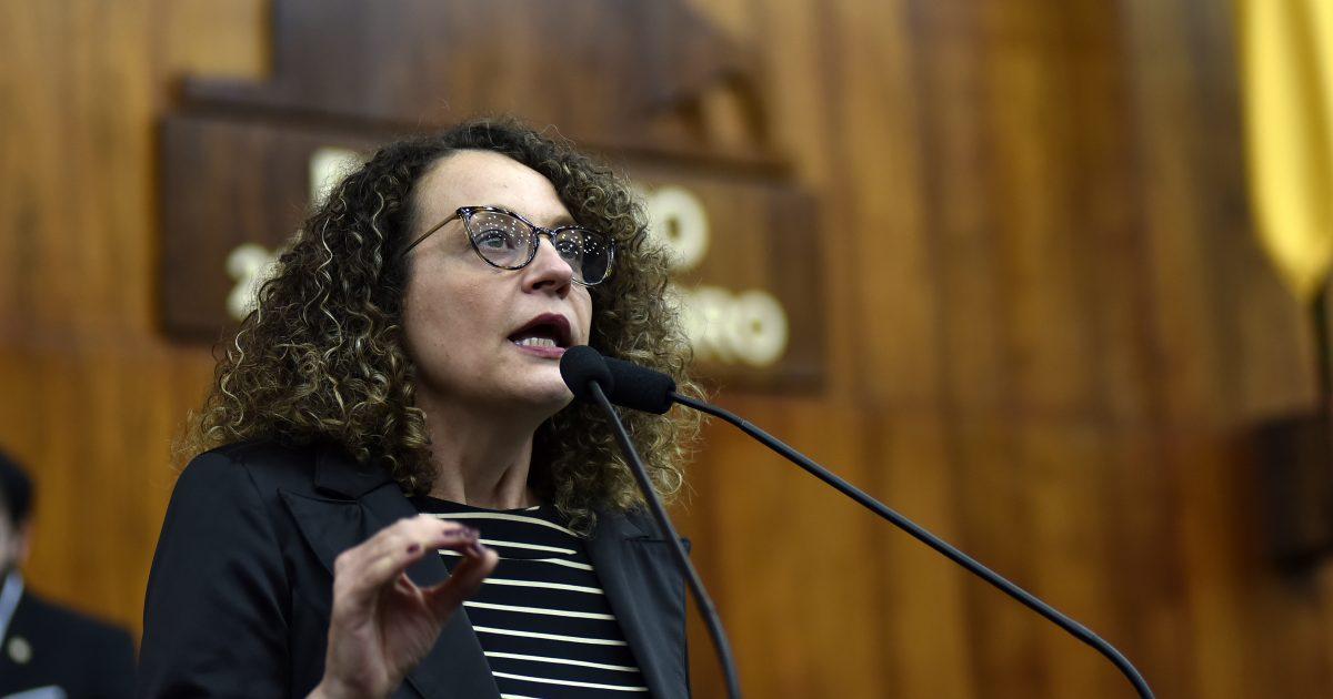 Deputada Luciana Genro foi uma das deputadas a entrar com o mandado de segurança no TJ solicitando a retirada do regime de urgência do Código Ambiental | Foto: Guerreiro, ALRS
