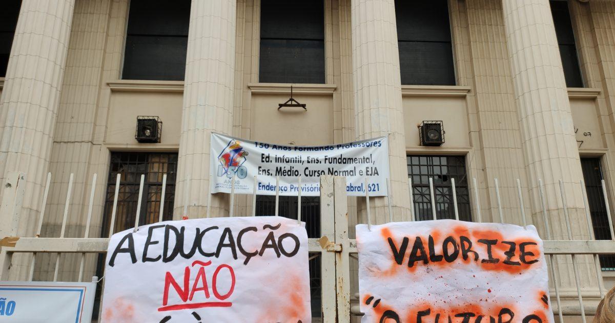 Mais de mil alunos do IE estão tendo aulas em outras escolas devido ao atraso nas obras. | Foto: Samir Oliveira