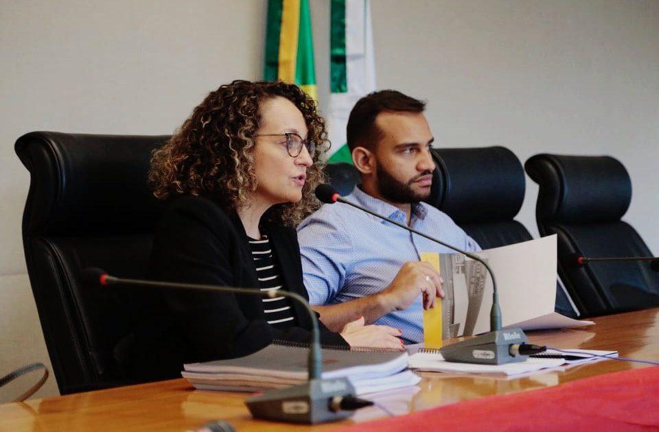 Luciana Genro esteve em Brasília junto com o deputado Fábio Félix. Foto: Isabelle Araújo