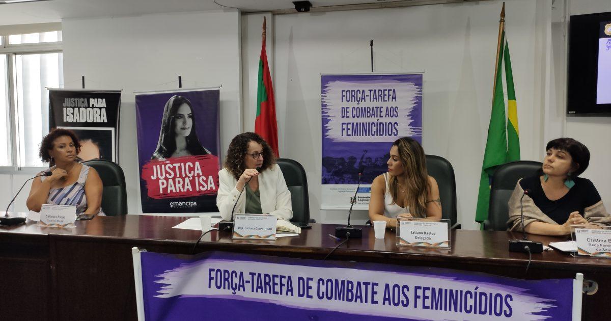 Seminário da força-tarefa de combate aos feminicídios ocorreu na Assembleia Legislativa na segunda-feira (16/12). | Foto: Samir Oliveira