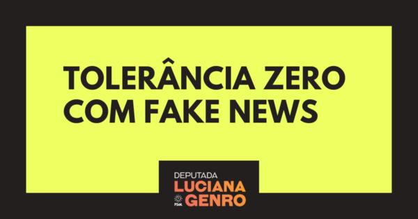 Luciana Genro ingressa com ações contra fake news