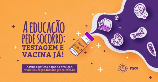 PSOL se mobiliza por Vacina para todos já!