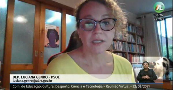 """""""Fechar turmas do EJA é negar direito básico à educação"""", diz Luciana Genro em audiência pública"""