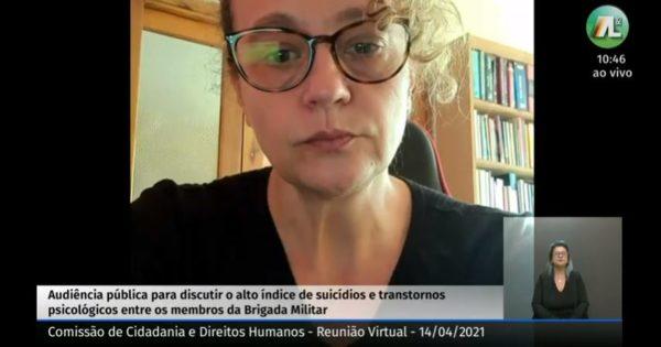 Audiência pública sobre saúde mental dos brigadianos: Luciana Genro cobra plano de carreira e aplicação de verbas