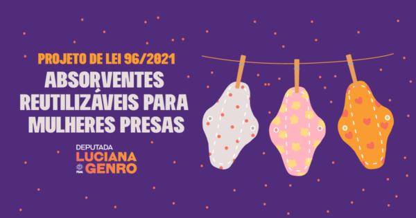 Projeto de Luciana Genro propõe distribuição de absorventes a apenadas