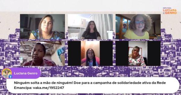 Em live com Luciana Genro, mulheres de ocupações e cooperativas falam sobre suas lutas durante a pandemia