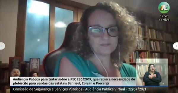 """""""Combater a privatização da Corsan, da Procergs e do Banrisul é combater a brutal desigualdade do capitalismo"""""""