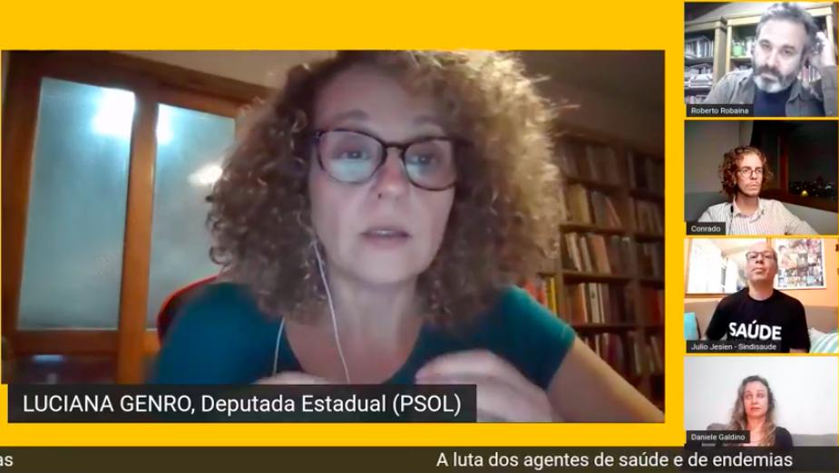 Luciana Genro e Roberto Robaina realizaram live com trabalhadores da atenção básica.