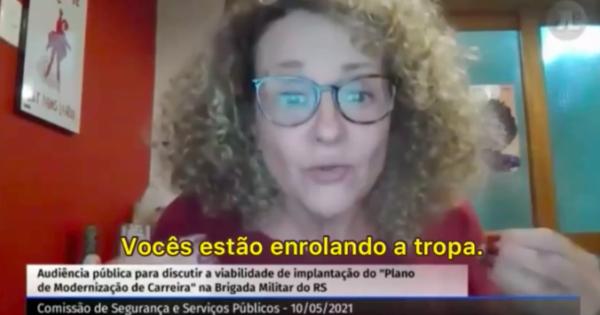 """""""Vocês estão enrolando a tropa"""", diz Luciana Genro ao governo em audiência pública"""