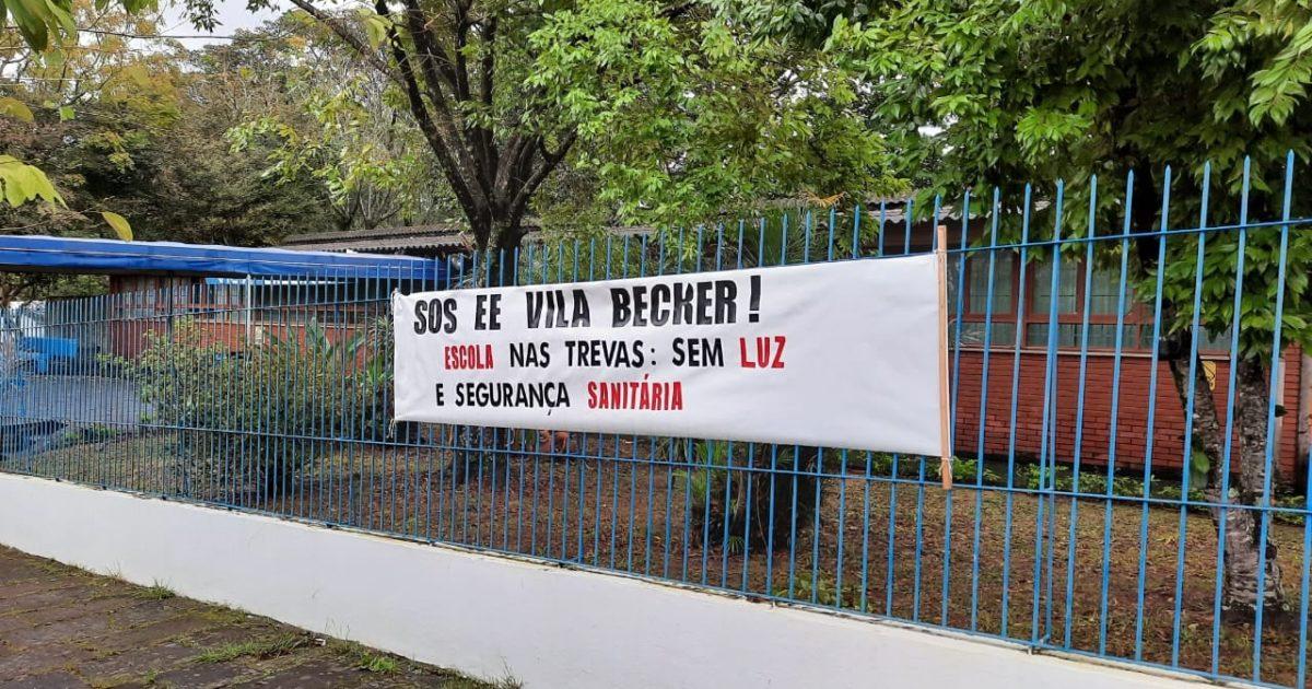 Escola Estadual Vila Becker está mobilizada por reformas e segurança | Foto: Divulgação/Cpers