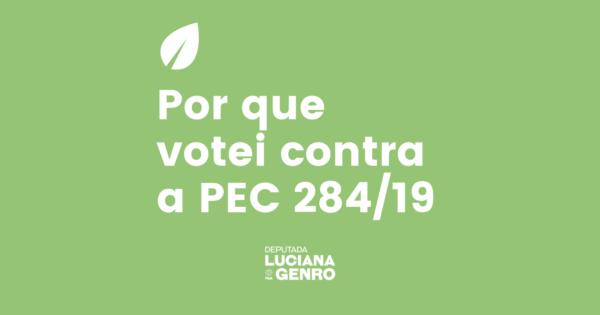 """Luciana Genro: """"Por que votei contra a PEC 284/2019"""""""
