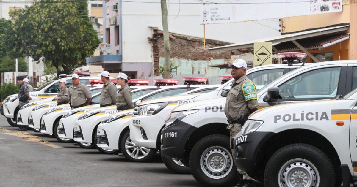 Viaturas e uniformes de policiais civis e militares deverão ter câmeras se projeto for aprovado.   Foto: Karine Viana/Palácio Piratini