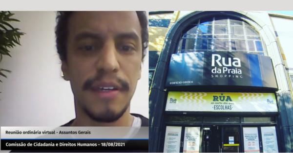 Cineasta denuncia à Comissão de Direitos Humanos abordagem racista de segurança em shopping de Porto Alegre