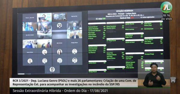 Assembleia aprova Comissão Externa  proposta por Luciana Genro sobre incêndio na SSP