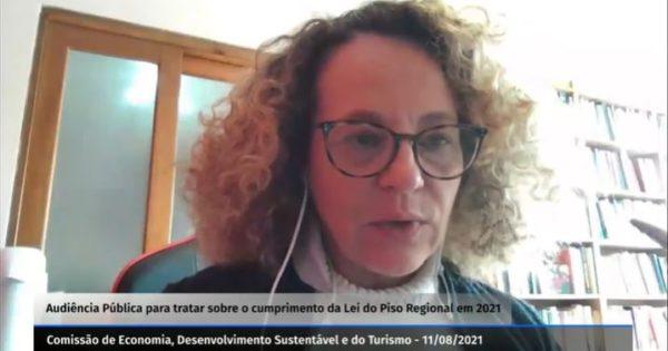 Luciana Genro defende reajuste do salário mínimo regional em audiência pública