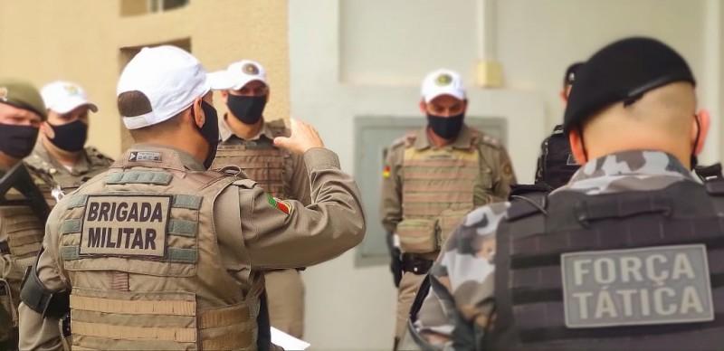 Efetivo da segurança pública passaria a usar câmeras em fardas e viaturas com aprovação do projeto. | Foto: Brigada Militar