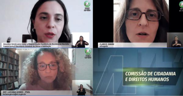 Deputadas do PSOL pedem apoio à Comissão de Direitos Humanos para regularização da Ocupação Marielle Franco
